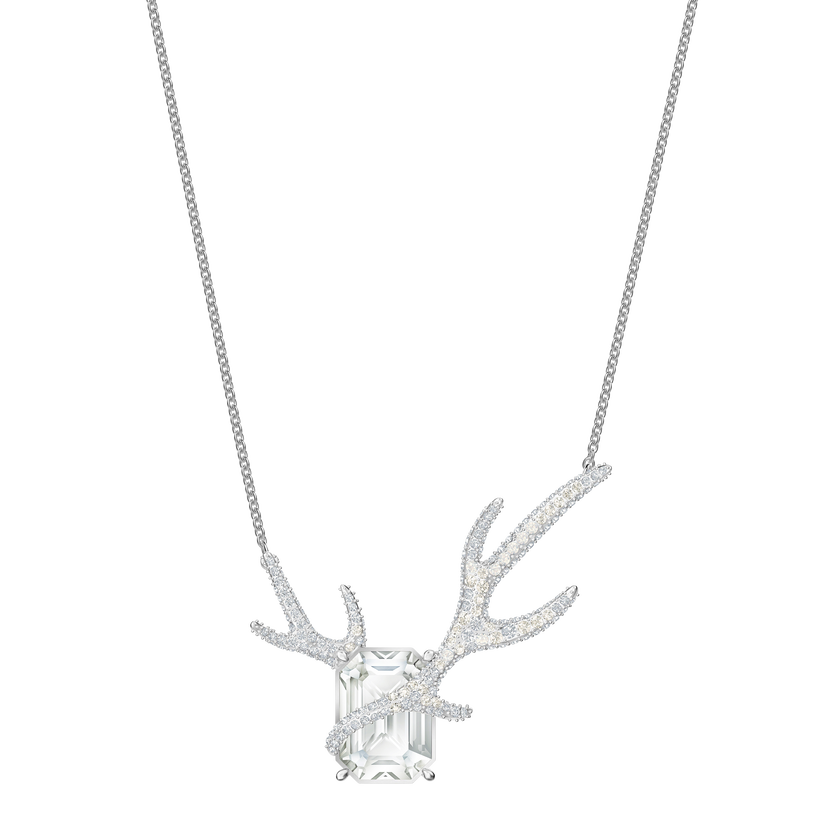 Polar Bestiary Necklace, Multi-colored, Rhodium plated