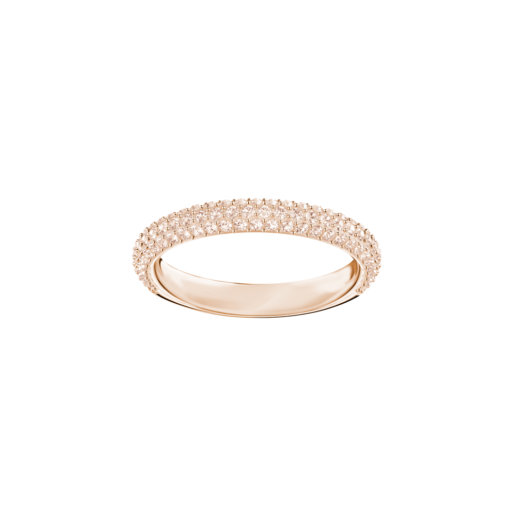 Stone Mini Ring, Pink, Rose Gold Plating