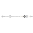 The Swarovski Remix Collection, Mixed Gray Crystal, Pearl, White, Rhodium Plated