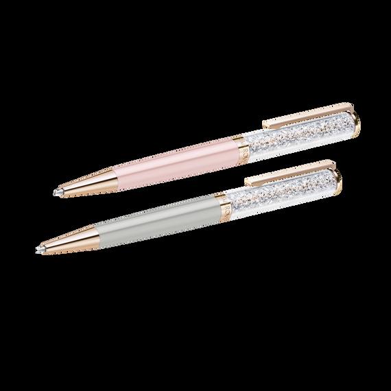 Crystalline Ballpoint Pen set, Rose-gold tone plated