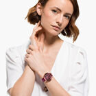 Octea Lux Chrono Watch, Leather strap, Red, Rose-gold tone PVD