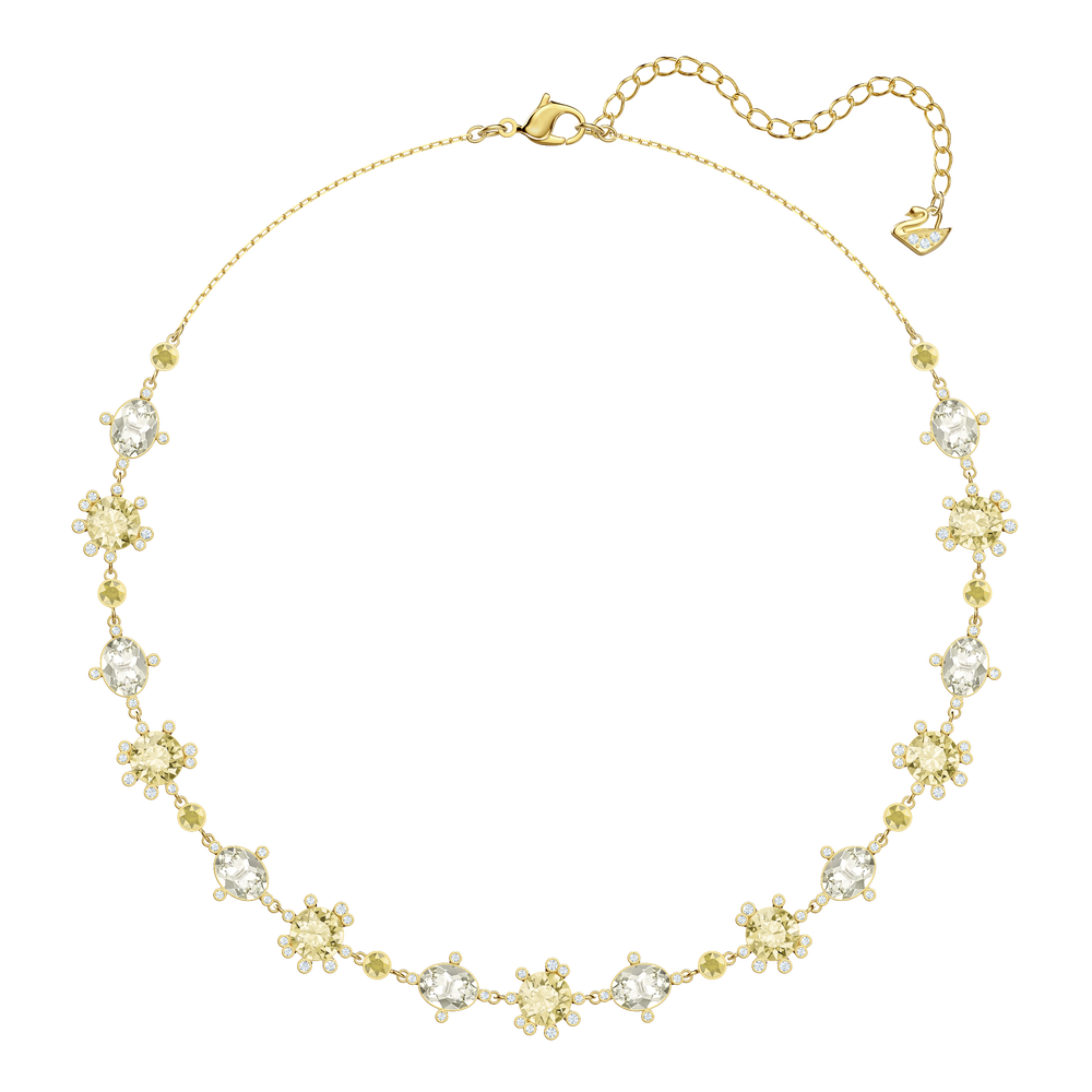 Olive Necklace, Multi-colored, Gold plating