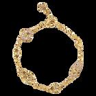 Graceful Bloom Decorative Bracelet, Brown, Gold-tone plated
