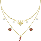 Lisabel Necklace, Multi-colored, Gold-tone plated