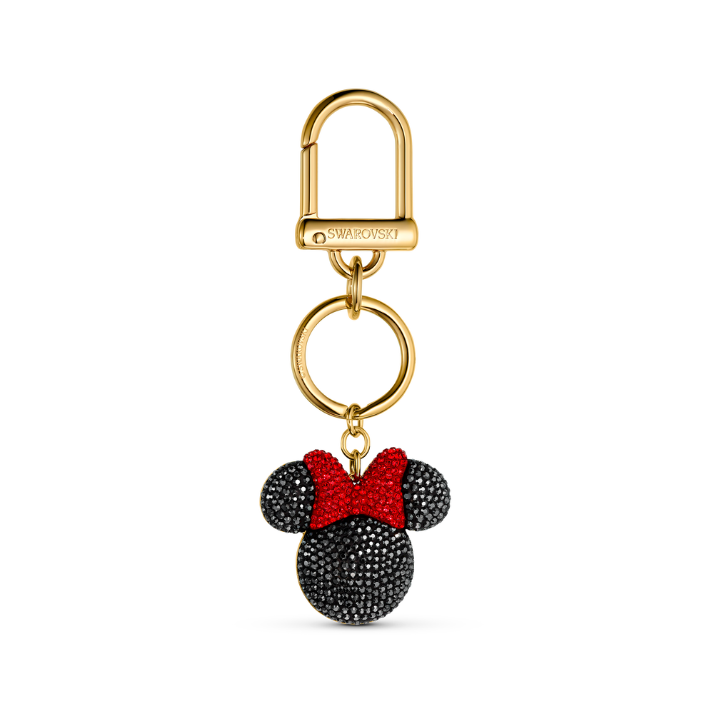 Minnie Bag Charm, Black, Gold-tone plated