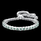 Subtle Bracelet, Green, Rhodium plating