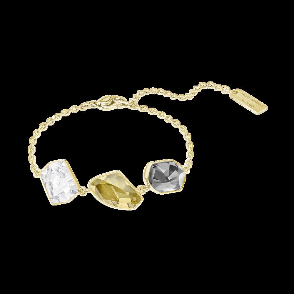 Prisma Bracelet, Multi-colored, Gold-tone plated