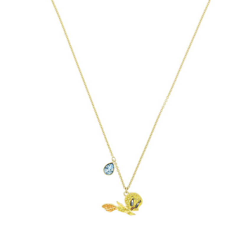 Looney Tunes Tweety Pendant, Multi-colored, Gold-tone plated