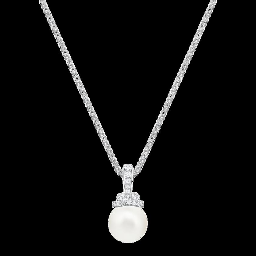 Originally Pendant, White, Rhodium plating