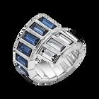 Fluid Azzurro Wrap Ring, Teal, Palladium plated