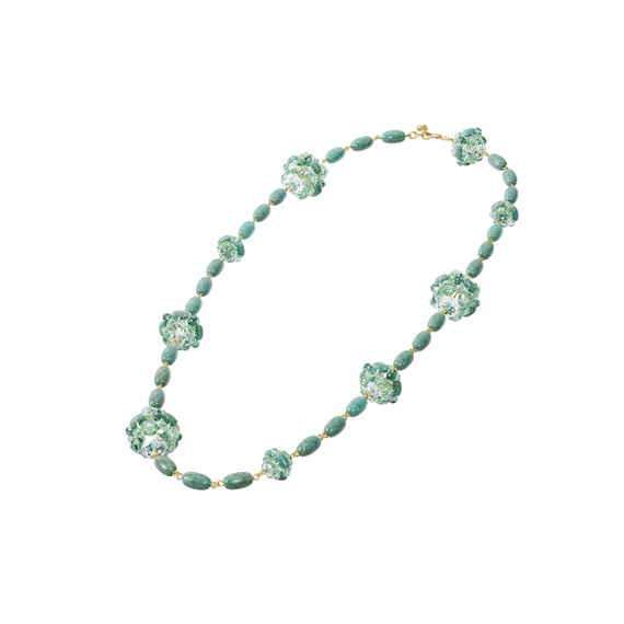 Somnia necklace, Green, Gold-tone plated