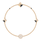 Swarovski Remix Collection Black and White Strand, Black, Rose-gold tone plated