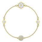 Swarovski Remix Collection Snowflake Strand, White, Gold-tone plated