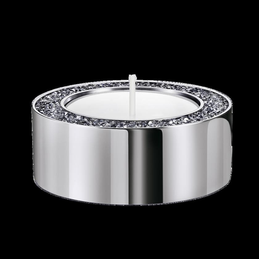 Minera Tea Light Holder, Small, Silver tone