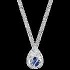 Energic Necklace, Blue, Rhodium plated
