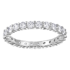Vittore Xl Ring, White, Rhodium Plated