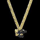 Tarot Magic Necklace, Blue, Gold-tone plated