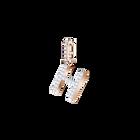 Swarovski Remix Collection Charm H, White, Rose Gold Plating