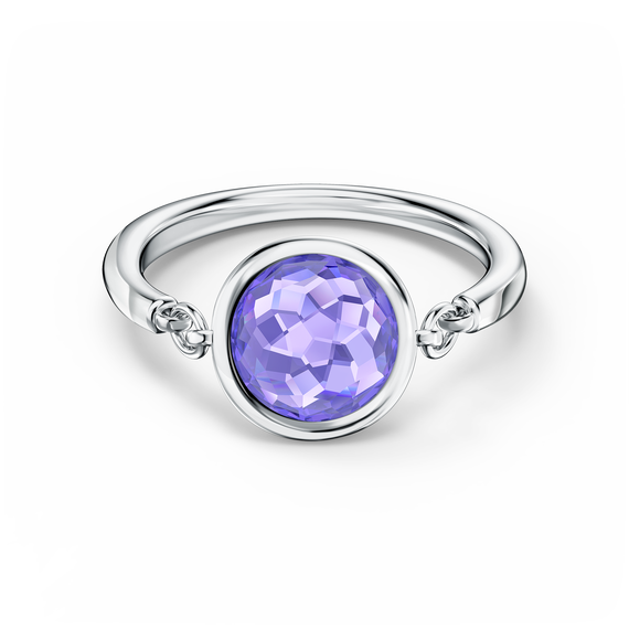 Tahlia Ring, Purple, Rhodium plated