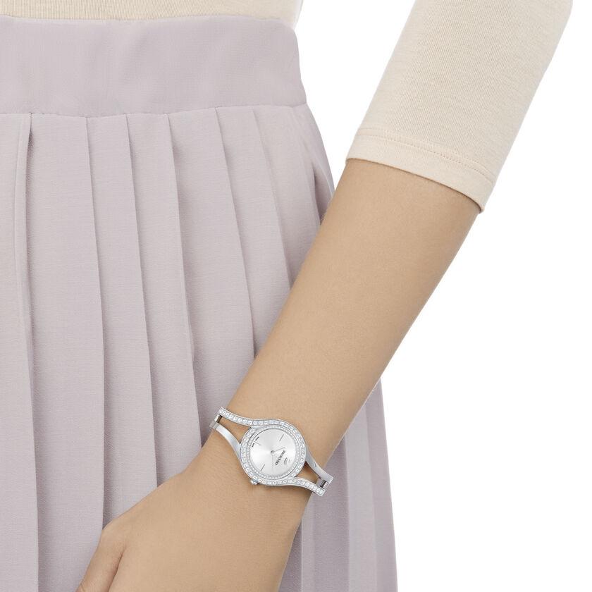 Eternal Watch, Metal Bracelet, White, Silver Tone