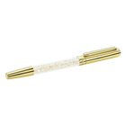 Crystalline Stardust Rollerball Pen, Pale gold-toned plated