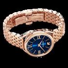 Crystalline Glam Watch, Metal Bracelet, Blue, Rose-gold tone PVD