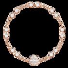 Swarovski Remix Collection Carrier, White, Rose Gold Plating