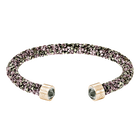 Crystaldust Cuff, Multi-colored, Rose-gold tone plated