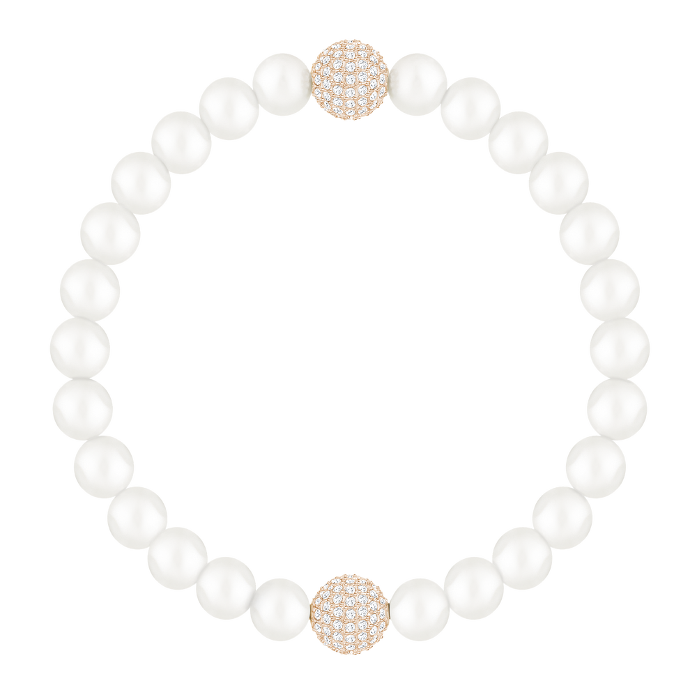 Swarovski Remix Collection, White Crystal, Pearl, White, Rose Gold Plated