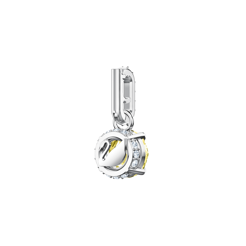 Swarovski Remix Collection Charm, November, Yellow, Rhodium Plating