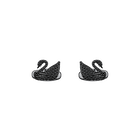 Swan Cufflinks, Black, Black PVD