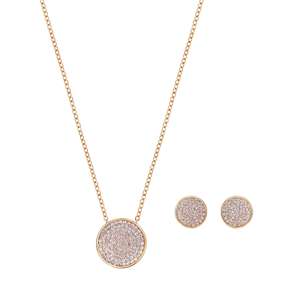 Fun Set, Pink, Rose-gold tone plated