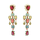 Origins Clip Earrings, Multi-colored, Gold-tone plated
