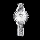 Cosmic Rock Watch, Metal Bracelet, White, Silver Tone