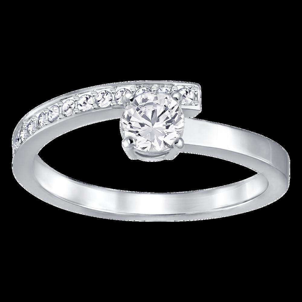 Fresh Ring, White, Rhodium Plated