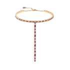 Fluid Necklace, Violet, Rose-gold tone plated
