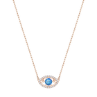 Luckily Necklace, Multi-colored, Rose gold plating