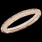 Stone Mini Bangle, White, Rose Gold Plated
