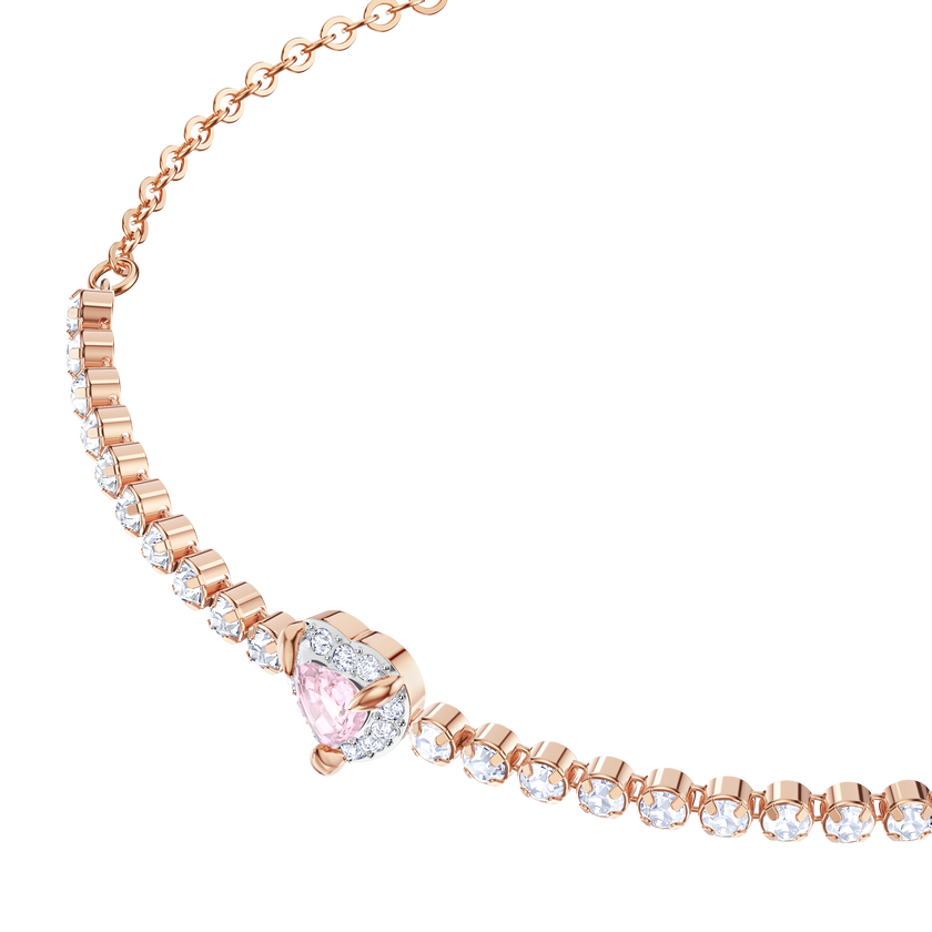 One Bracelet, Multi-colored, Rose gold plating