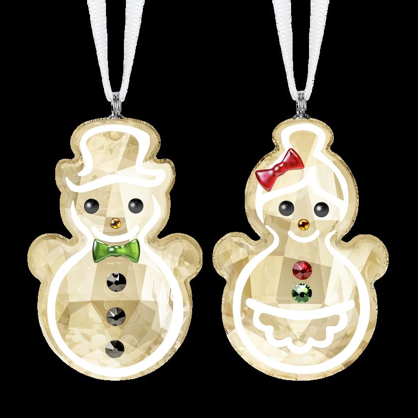 Gingerbread Snowman Couple Ornament