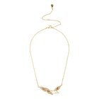 Graceful Bloom Necklace, Brown, Gold-tone plated