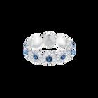 Angelic Ring, Teal, Rhodium Plating