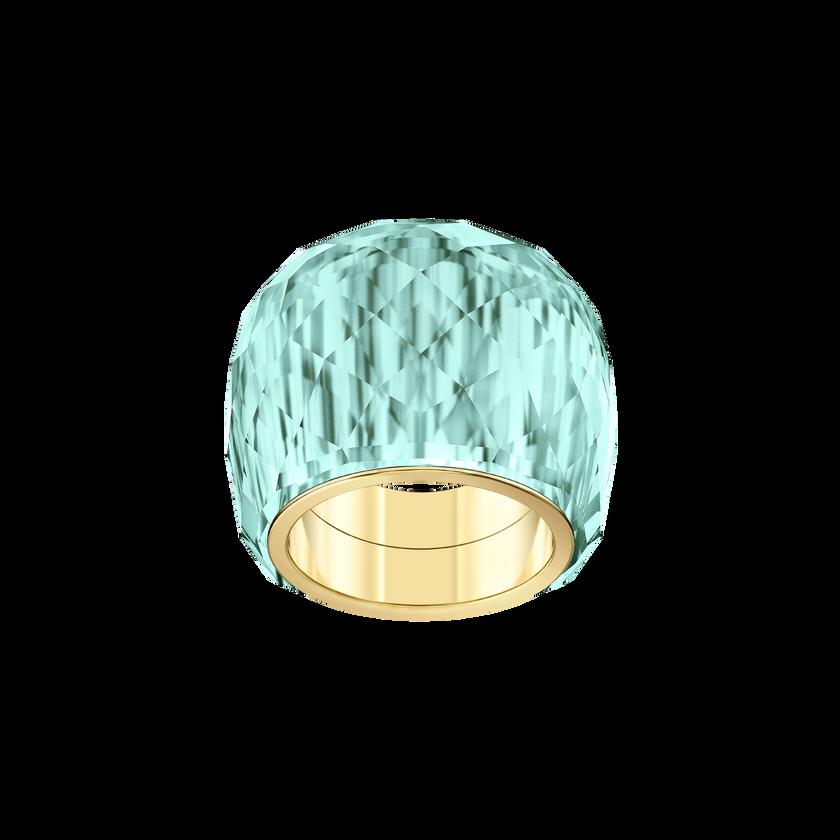 Nirvana Ring, Aqua, Gold-tone PVD