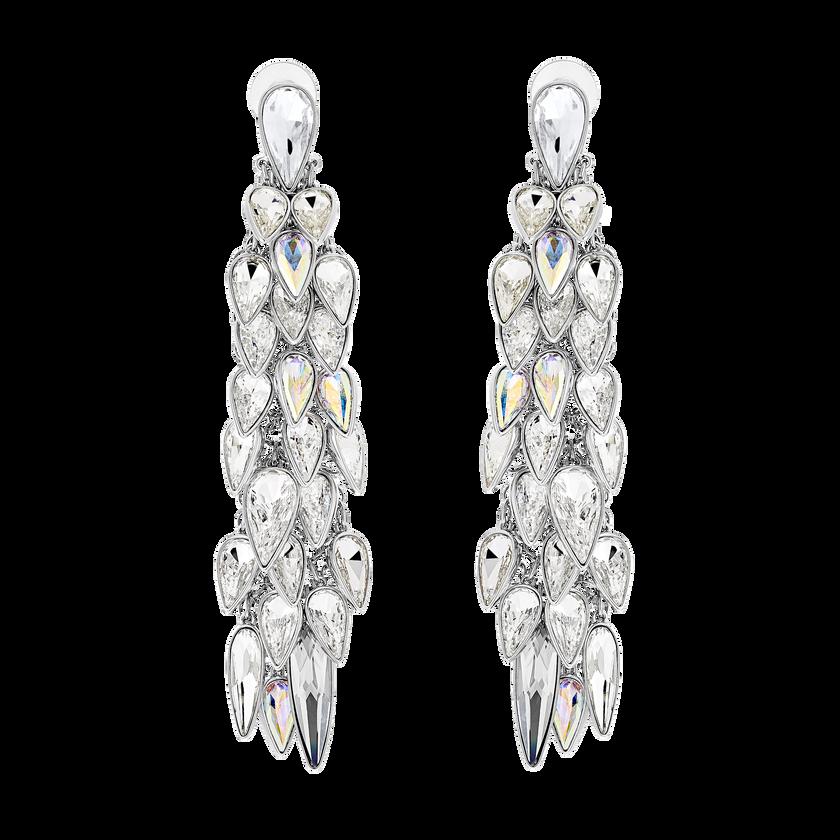 Polar Bestiary Clip Earrings, Multi-colored, Rhodium plated