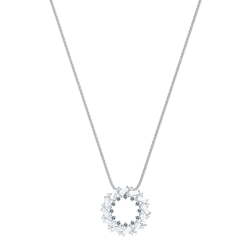 Naeli Pendant, White, Rhodium plating