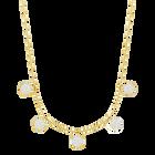 Lisabel Choker, White, Gold-tone plated