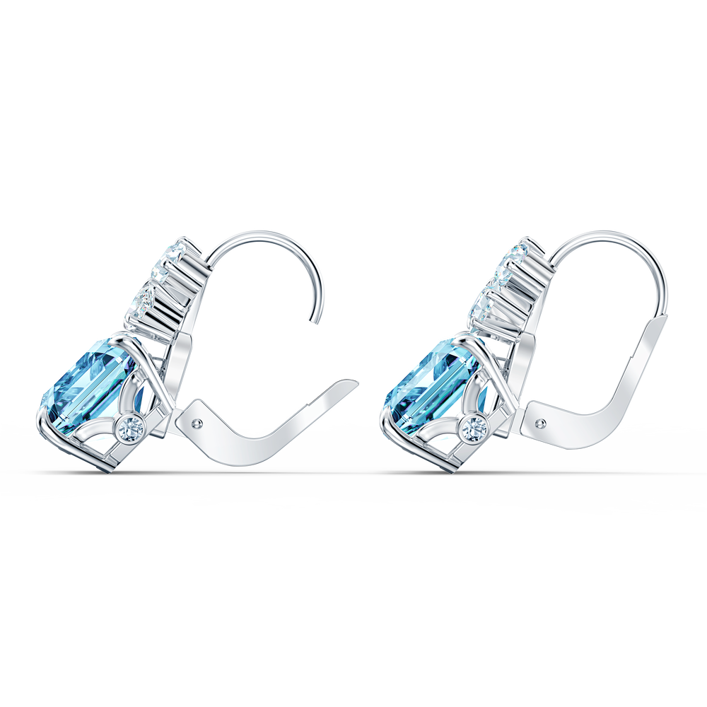 Sparkling Set, Aqua, Rhodium plated