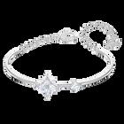 Swarovski Symbolic Bangle, White, Rhodium plated