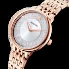 Cristalline Chic Watch, Metal bracelet, Rose gold tone, Rose-gold tone PVD