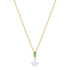 Oz Pendant, White, Gold plating